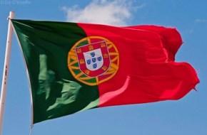 Bandera de Portugal que oneja