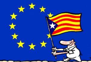 Estelada a la UE - dibuix Kap